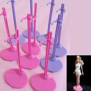 Stand Mannequin Model Display Holder For Barbie Dolls Toy Pink Purple