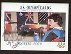 Robert Foth signed autograph auto 1992 Impel U.S. Olympic Hopefuls
