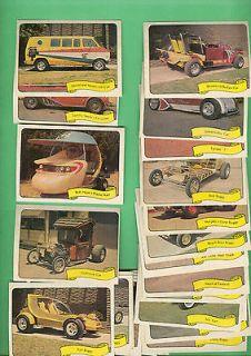 1975 Fleer George Barris Kustum Kars II Sticker Set