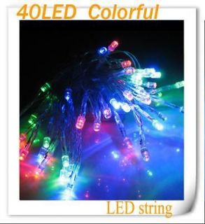 Mini BATTERY Lighting OPERATED 40 LED MINI FAIRY LIGHTS colorful