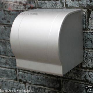 aluminum toilet paper holder roll tissue case with cover dispenser