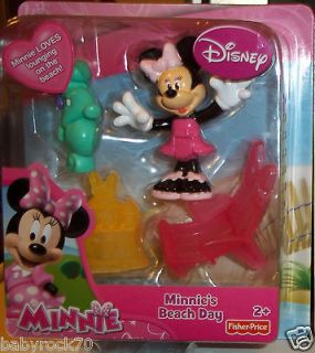 DISNEY MICKEY MOUSE CLUBHOUSE MINNIE MOUSE BEACH DAY WITH CHAIR AND