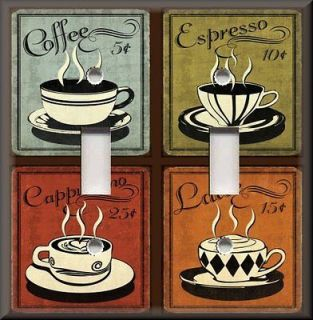 Light Switch Plate Cover   Vintage Cafe Coffee For Sale   Multi