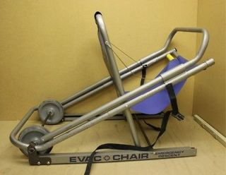 EVAC + Chair Emergency Wheelchair Stair Evacuation Lift Chair 250 lbs