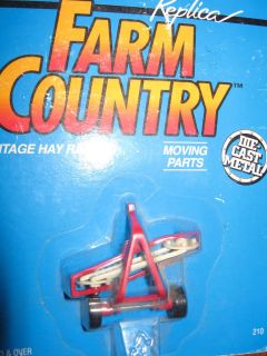 Ertl 1/64 diecast Farm Country red Vintage Hay Rake #210