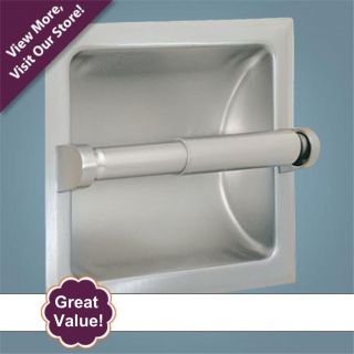 Recessed Toilet Tissue Paper Holder   Brushed Nickel