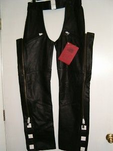 Newly listed Mens High Noon Leather Motorcycle Riding Horse Chaps Sm