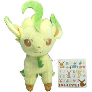 Pokemon I Love Eevee LEAFEON 5 Ball Chain Plush Doll Toy Heart