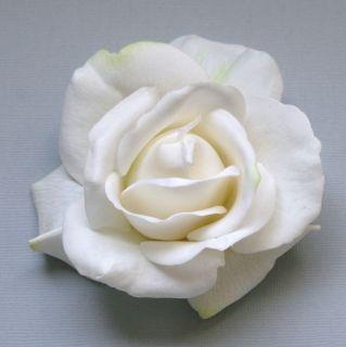 Rose Hair Flower. Bridal Clip Barrette Brooch Fascinator Comb Wedding