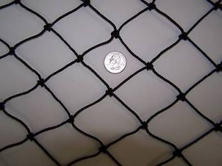 18 x 10 Batting Cage black Nylon Netting 1 7/8 #36 Round Bale Hay