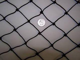 18 x 10 Batting Cage black Nylon Netting 1 7/8 #36 Round Bale Hay