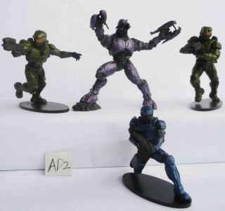T300~ LOT OF 4 HALO WARS SOLDIERS ACTION FIGURES loose about 3