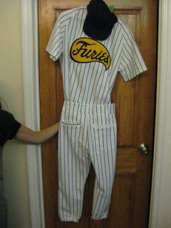 The Warriors Baseball Furies Complete Uniform Pants Jersey Hat vest