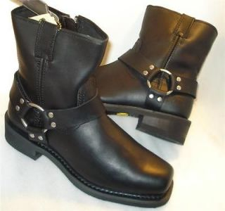 BATES mens HARNESS Boots Black side zipper (Riding Boot) US sz 8