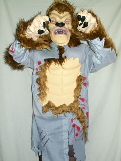 Boys Girls Halloween Outfit Costume Werewolf Beastly Boy Ages 5   11