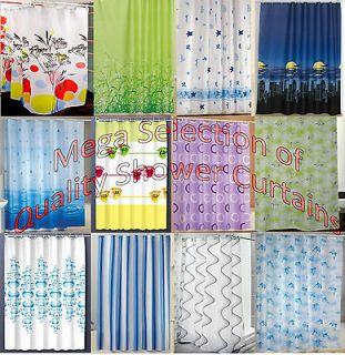 New Modern Quality Bathroom Shower Curtains   Extra Long 180 / 200cm