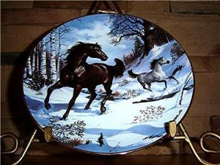 Franklin Mint/Doulton Winter Morning Gallop Horse Plate