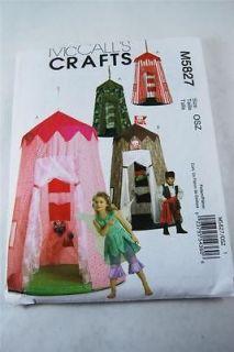 McCalls M5827 Sewing Pattern Kids Play Tents Pirate Princess Army New