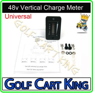 Vertical 48 Volt Golf Cart Digital LED Battery State of Charge
