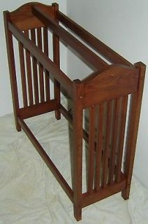 Cherry Wood Mission Style Quilt Rack Stand / Blanket Stand Towel Rack