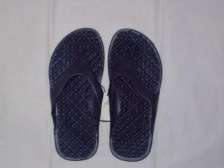 Boys Navy Blue Comfort Sport Flip Flops With Bubble Foot Bed size M