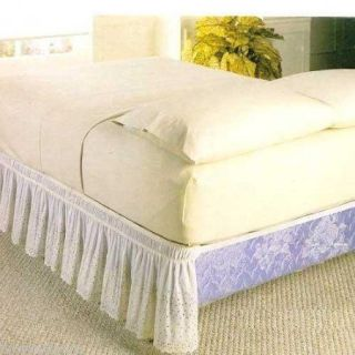 18 DROP WRAP AROUND EYELET LACE BED SKIRT/DUST RUFFLE