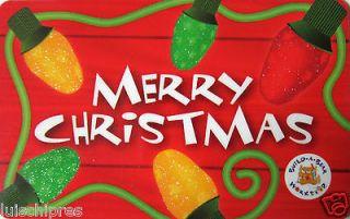 BUILD A BEAR Gift Card Chrsitmas Lights COLLECTIBLE NO VALUE 2012