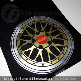 BBS LM Wheel T Shirt. BMW M3 E46 E92 GT R VW AUDI NEW!