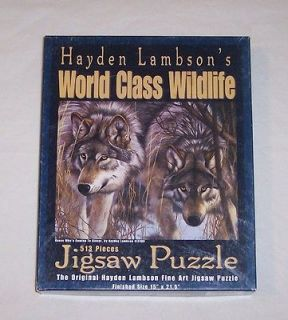 HAYDEN LAMBSON WORLD CLASS WILDLIFE PUZZLE   WOLVES 513 PCS EXCELLENT