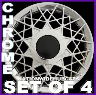 Set of 4 VW BEETLE 16 CHROME Spoke Wheel Covers Rim Hub Caps