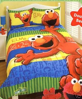 Sesame Street ELMO Single Quilt Cover Set/Plush Seat