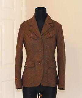 Belstaff   The Aviator Brown Tweed Wool Jacket   Size 42 (UK 10)