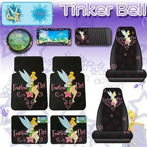 Tinkerbell Car Mats Seat Covers CD Sunshade Fearless