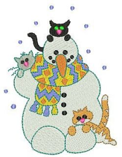 Snowmans are Cool Machine Embroidery Designs 4x4 CD Brother Janome
