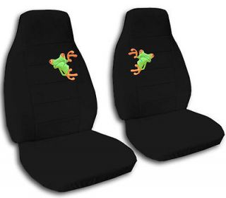 FRONT SET CAR SEAT COVERS WITH A NICE FROG CHOOSE YOUR COLOR