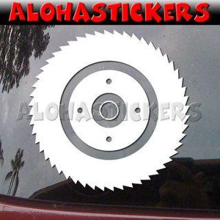 SAW BLADE #2 Skilsaw Car Truck Graphics Die Cut Vinyl Decal Window
