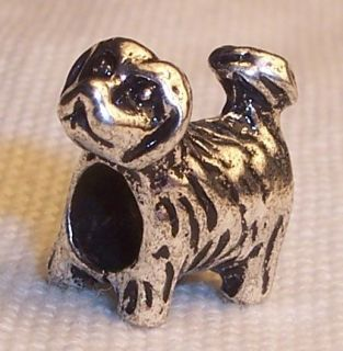 Free Yorkie Puppy Dog Yorkshire Terrier Bead for Silver Charm Bracelet