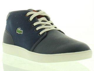 Lacoste Boots Genuine Benoit Cre Spm Dark Blue Dark Red Mens Boot Size