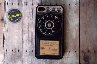Retro Rotary Phone Iphone 4 / 4s case Vintage payphone
