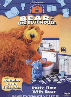 BEAR IN THE BIG BLUE HOUSE   POTTY TIME WITH BEAR   NEW DVD