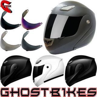 FULL FACE MOTORBIKE MOTORCYCLE BIKE SCOOTER HELMET WITH TINTED VISOR