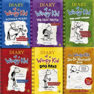 Diary of a Wimpy Kid Collection 6 Books Set Pack by Jeff Kinney