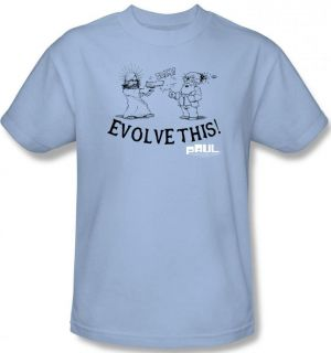 NEW Men Women Ladies Paul Alien Evolve This Darwin Comic Movie T shirt