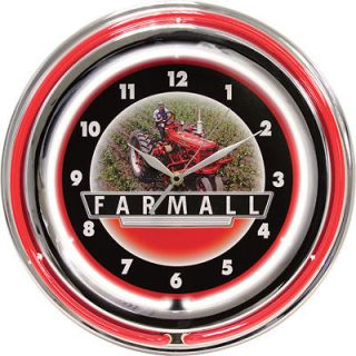 Case IH Farmall Double Neon Wall Clock