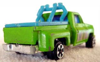 OLD METAL TOY TRUCK SPOT LIGHTS & ROLL BARS W BED COVER 1980s