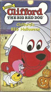 Clifford the Big Red Dog   Cliffords Big Halloween (VHS, 2002