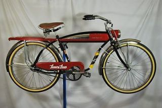 Luxury Liner Reproduction balloon tire bicycle bike Limited red