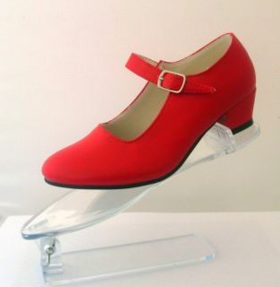 New Girls Spanish Flamenco Dance Shoes, Red UK 13 (33)