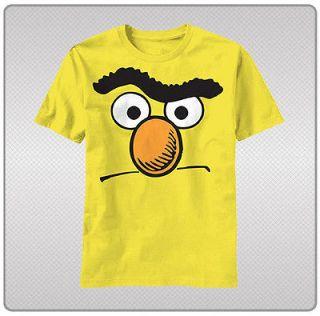 Sesame Street Big Face Bert of Bert & Ernie Tee Shirt Adult Sizes S
