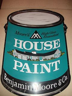 Vintage Benjamin Moore Paint Can Display Sign Latex house paint